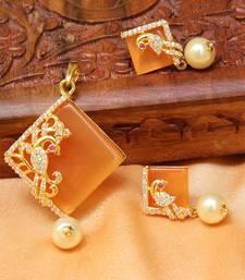 Buy Beautiful Designer peacock   pendant set south-indian-jewellery online