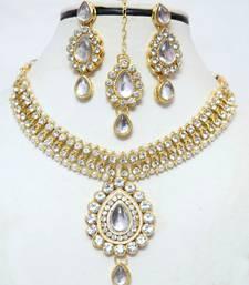 Buy Designer diamond necklace set for womens necklace-set online