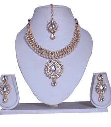 Buy Designer diamond necklace set for womens necklace-set online