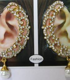 Buy Stone white  drop earrings stud online