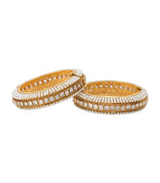 Buy Off White gold plated bangles and bracelets bangles-and-bracelet online