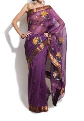 Banarasi Cotton Designer Ablawork saree