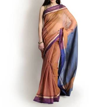 Supernet cotton zari contrast saree