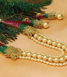 Buy Awesome multi layer antique designer pearl necklace set south-indian-jewellery online