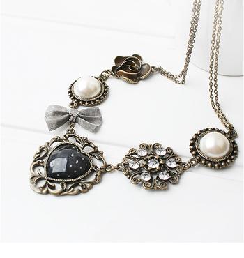 Morcrest Retro Vintage Charms Necklace