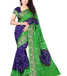 Buy multicolor woven georgette saree With Blouse bandhani-sarees-bandhej online