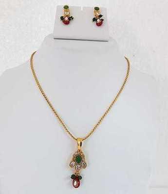 Gold Dazzling Necklace Set