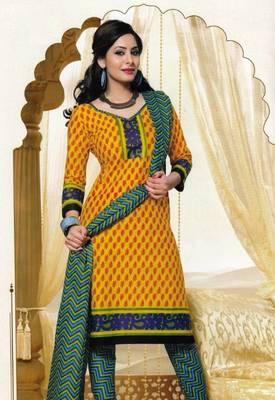 Dress Material Elegant Cotton Printed Unstitched Salwar Kameez Suit D.No M1604