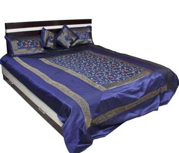 Amazing Blue Embroidery Bed Cover Set