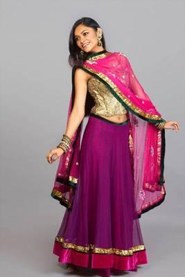 Pink & Purple Lehenga