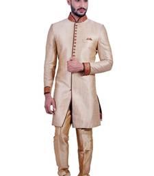 Buy daffodil gold fancy fabric indo western dresses indo-western-dress online
