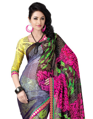 Multi Colored Georgette Saree