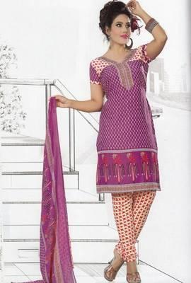 Dress Material Crepe Unstitched Elegant Salwar Kameez Suit D.No 7409