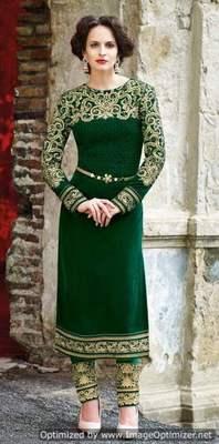 Velvet Salwar Kameez Churidar Fabric Only 77