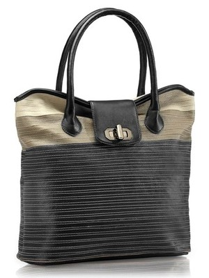 """Phive Rivers-Ren, Genuine Leather Women Tote Bag with colour : """"Black"""""""
