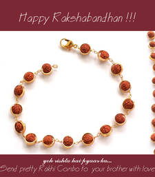 Buy Rudraksh Rakhi with small Dairy Milk rudraksha-rakhi online