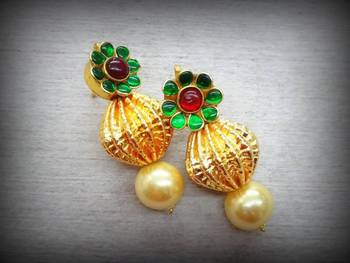 Flower Dholki Pearl  Tops