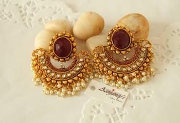 Ram Leela Earrings Jhumka Tops Kundan Ethnic Traditional Handmade Indian