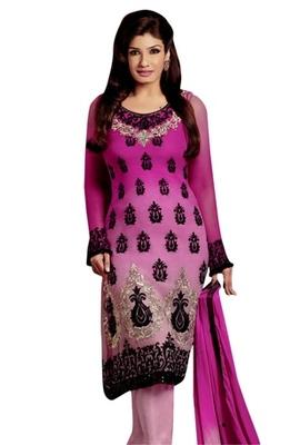 Triveni Raveena's Glamorous Embroidered Salwar Kameez TSFLSK5009