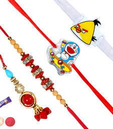 Buy Family rakhi set with 2 kids rakhi rakhi-gift-hamper online