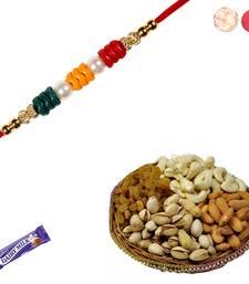 Buy Designer rakhi with mix dryfruits rakhi-gifts-for-brother online