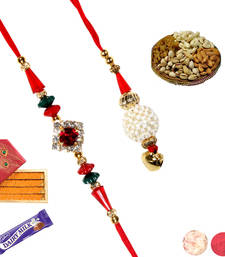 Buy Rakhi sweet hamper with rakhis rakhi-gift-hamper online