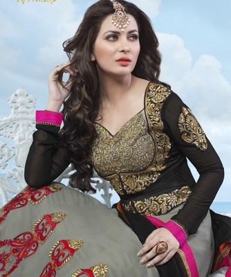 LycheeFashions Semi Stitched  Long Anarkali Salwar Kameez