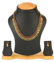 Buy Traditional Gold Plated Coin Necklace set necklace-set online