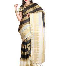 Buy beige woven manipuri silk saree With Blouse manipuri-silk-saree online