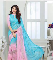 Buy chiffon saree by fabkaz (Pink) chiffon-saree online