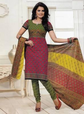 Dress material cotton designer prints unstitched salwar kameez suit d.no PS1316