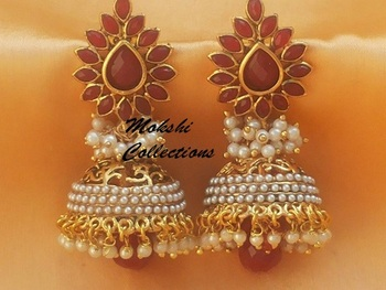 Elegant Red Aashiqui2 Earrings