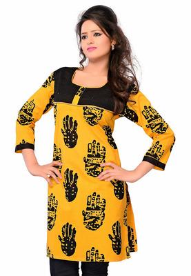 Casual wear yellow coloured kurti