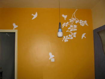 Birds-and-leaves-decal