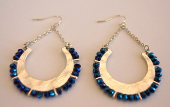Swarovski element dangle earrings