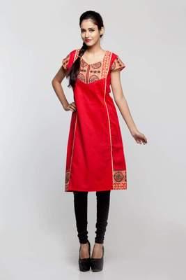 Avishi Designer Red Color Kurta