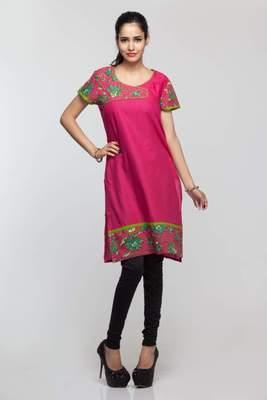 Avishi Pink Stylish Kurta
