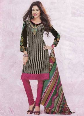 Dress material cotton designer prints unstitched salwar kameez suit d.no 4429