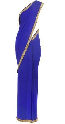 Eligant look blue saree