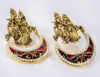 Traditional Radhakrishna Earring