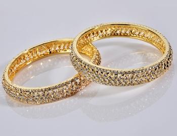 Diamond Golden Bangles