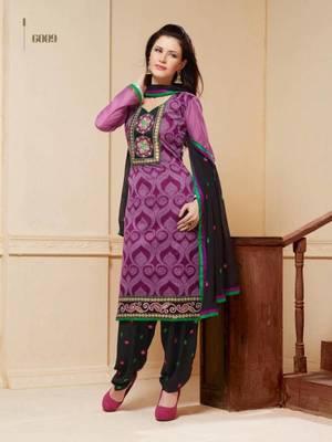embroidery designer work patiyala style salwar suit