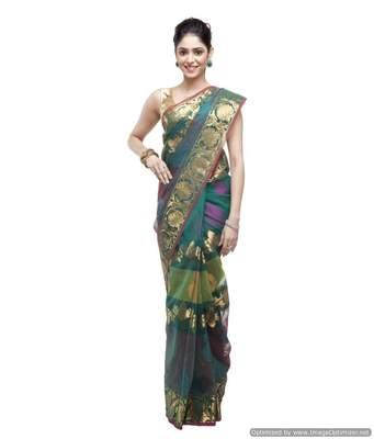 Banarasi Handloom 4D Kora Silk Saree