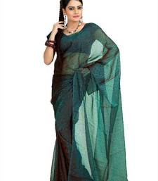 Buy Tan teal tissue jacquard saree with unstitched blouse (msk1086) tissue-saree online