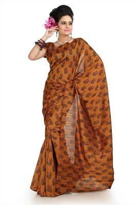 Deep Mustard bhagalpuri silk saree with unstitched blouse (flk1006)