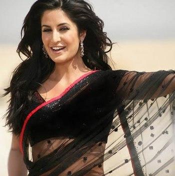 Bollywood katrina black saree