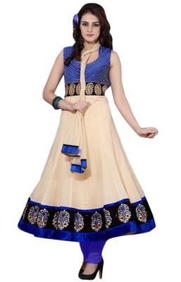 Triveni Trendy Velvet Bordered Readymade Salwar Kameez TSSTSK106