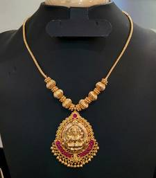 Buy Georgeous high gold plated kundans laxmi necklace set necklace-set online