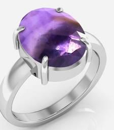 Buy Katela 9.3 cts or 10.25 ratti Amethyst Ring Ring online