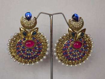 Nature Inspired Stunning Earrings with Meenakari Work